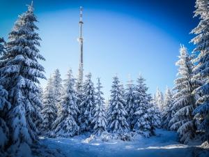 Ochsenkopf Turm in Sichtweite