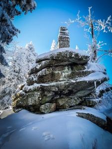 Ochsenkopf-Gipfel-Steinmal