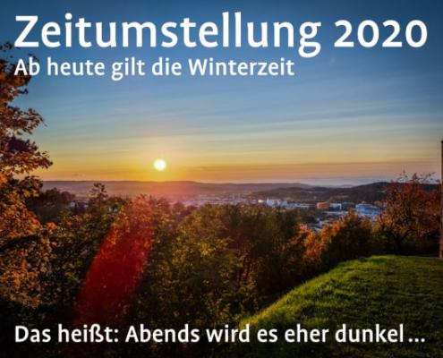 Zeitumstellung Winterzeit 2020