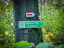 Wegweiser zum Hetzleser Berg / Streitbaum