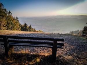 Sitzbank mit Aussicht