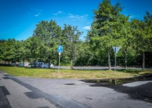 Wanderparkplatz oberhalb von Pfaben