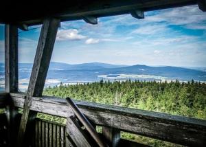 Auf der Aussichtsplattform des Oberpfalzturms