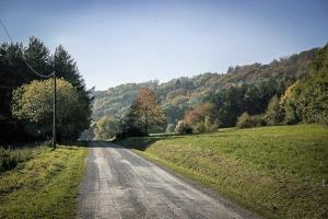 Breiter Weg über Freifläche