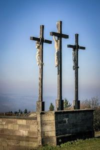 Kreuzigungsgruppe 3 Kreuze Kreuzberg Rhön