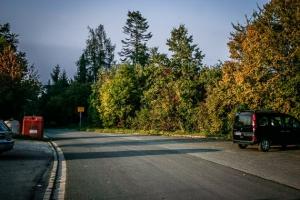 Weg über Parkplatz Romansthal