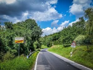 Ortsausgang Lußberg Richtung Kirchlauter