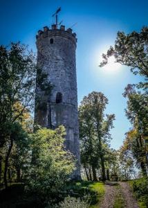 Turm der Wallburg über Eltmann
