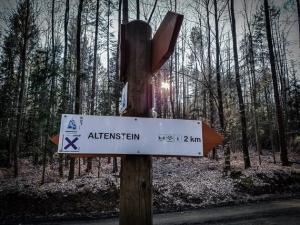 Wegweiser nach Altenstein
