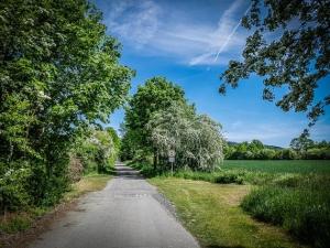 Ein ruhiger idyllischer Weg beginnt