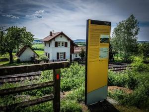 Wunderschöne Bahn-Blockwärter-Häuschen