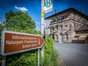 Bahnhof Marktschorgast mit Informationszentrum Schiefe Ebene