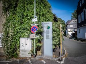 Infotafel mitten in Lauenstein
