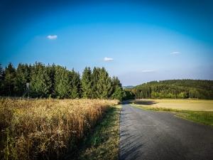Weg über Hochebene oberhalb von Lauenstein