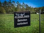 Warnschild an der Friesener Warte