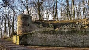 Mauern der Ruine Zabelstein