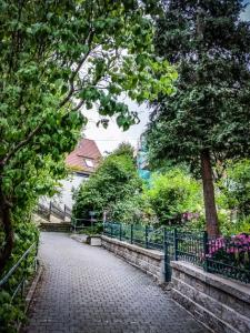 In Hohenstein zur Burg hinauf