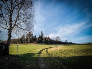 bergauf nach Steinbach