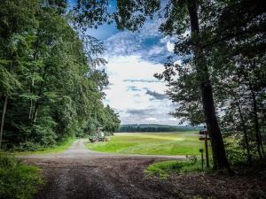 Große Kreuzung außen am Waldrand
