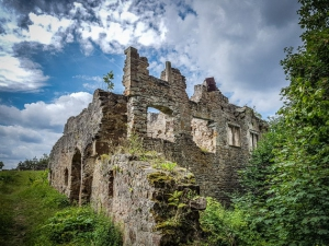 Wandern Ebern Ruine Raueneck
