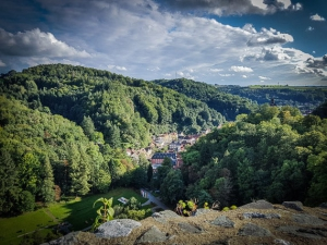Blick ins Tal von Bad Berneck