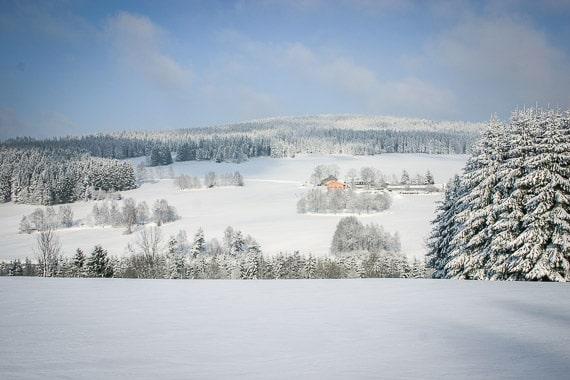 Schneeschuh-Wanderweg im Fichtelgebirge