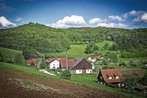 Blick auf den kleinen Ort Kosbrunn