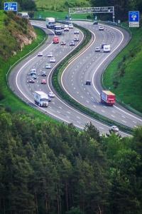 Blick auf die Autobahn A9