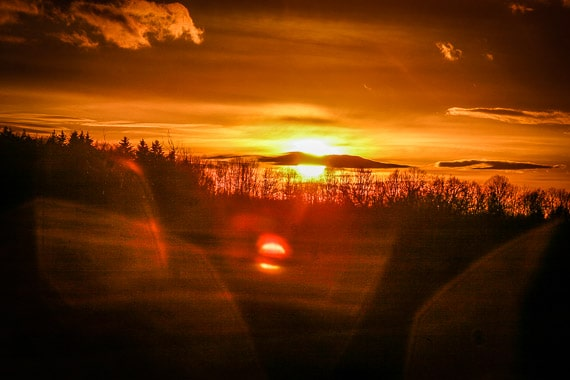 Abendhimmel bei Obernsees