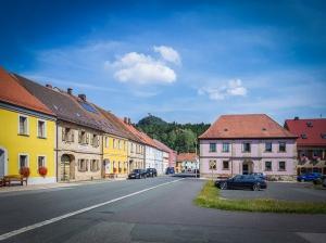 Der Marktplatz von Neustadt am Kulm