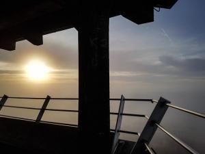 Blick vom Aussichtsturm auf dem Rauhen Kulm