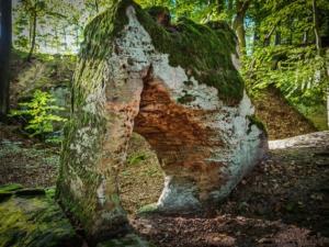Der mystische Schlupfstein im Forst bei Buch