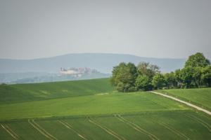 Blick Richtung Veste Coburg und Bleßberg