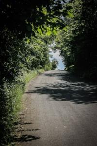 Die Bergstraße hinauf