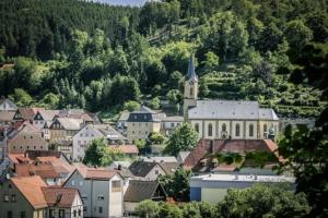 Blick auf Ortskern von Wallenfels
