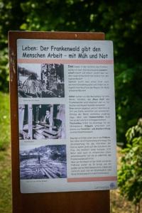 Infotafel zum Frankenwald