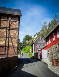 In Sparnberg bergauf