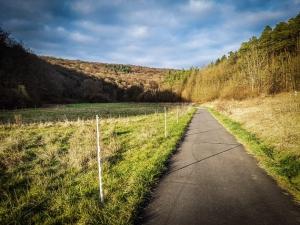 Weg nach hinten ins Tal