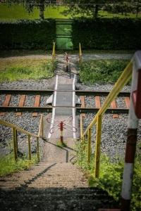 Fußgänger-Bahnübergang
