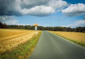Aus Rodeck hinaus (in Richtung Döbra)