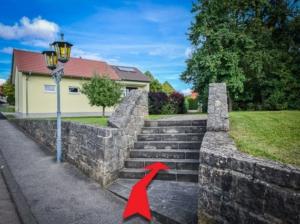 Fußweg Steintreppe hoch