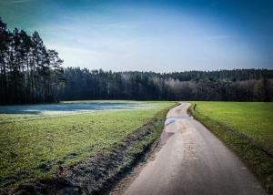 Weg über Freifläche
