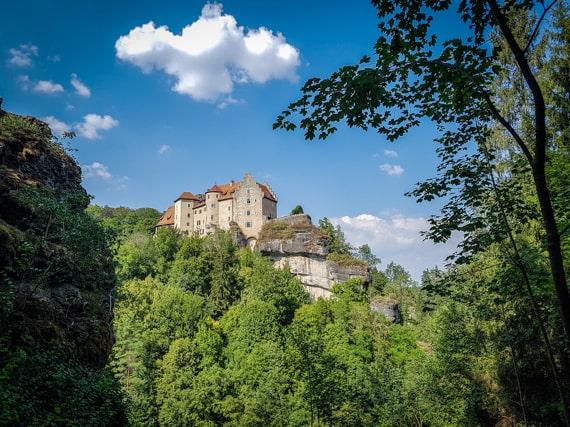 Wanderwege Franken Fränkische Schweiz Burg