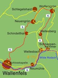 Karte Wallenfelser Höhenweg